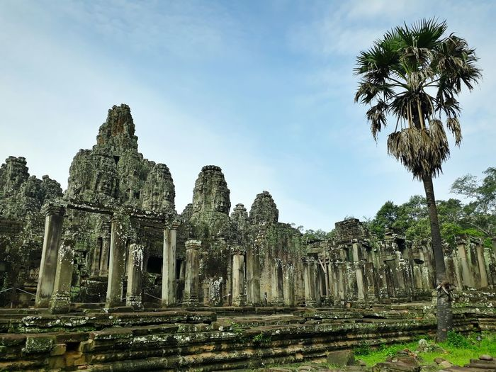 ASIA Cambodia Asian  Asian Culture Stone Material Ancient Civilization Religion Place Of Worship Spirituality Old Ruin Sky Architecture Historic Sculpture Civilization Ancient Statue Archaeology The Past Archway