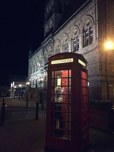 Chester telephone Telephone Booth Communication Night Built Structure Architecture Illuminated Building Exterior Outdoors No People Pay Phone Uk Telephone Queen Chester