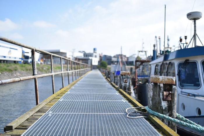 Boat Dock Docker Fisherman Fisherman Boat Harbor Outdoors Sky Sky And Clouds Vessel The Street Photographer - 2017 EyeEm Awards EyeEmNewHere
