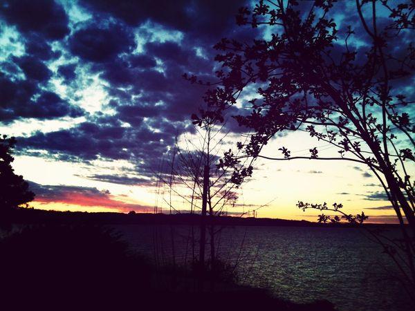 Atardecer en Lago Ranco