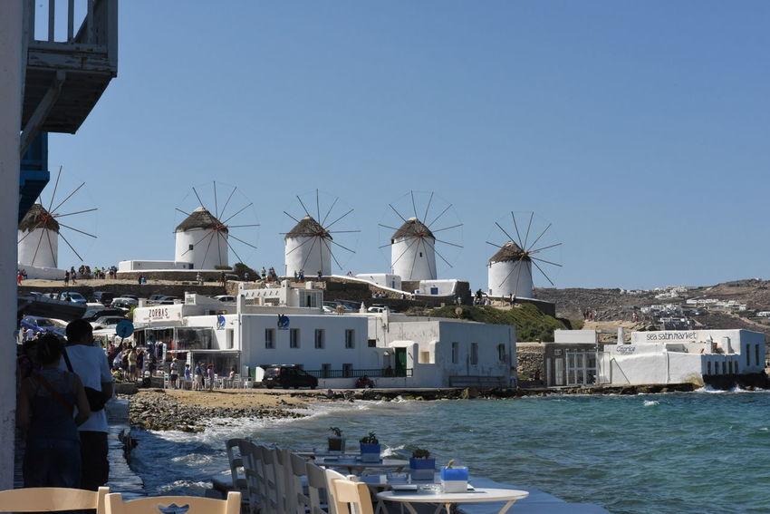 Aegean Aegean Islands Aegean Sea Blauer Himmel Blaues Meer Blaues Wasser Blue Sea Blue Sky Greece Kykladen Kyklades Mykonos Mykonos,Greece Sky Wasser Water Windmill Windmills Windmühle Windmühlen ägaisches Meer ägäis ägäische Inseln