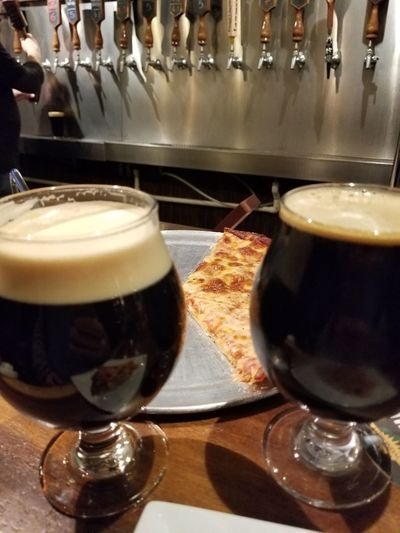 Friday. Bar Pizza Local Tap Porter Friday Indoors  Refreshment No People Freshness Close-up Food Ready-to-eat Food And Drink Drink Frothy Drink Indoors  Froth Beer Drinking Glass Beer Glass Alcohol