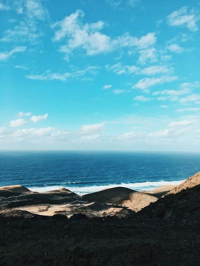 Big blue Canarias Canary Islands Fuerteventura Sea Sky Water Scenics - Nature Beach Cloud - Sky Beauty In Nature Tranquility Tranquil Scene Horizon Over Water Horizon Holiday Outdoors Nature Blue Idyllic The Great Outdoors - 2019 EyeEm Awards