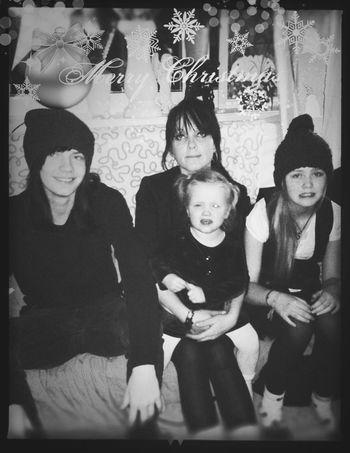 Me & My kids Xmas Kids Santa Bwphotography