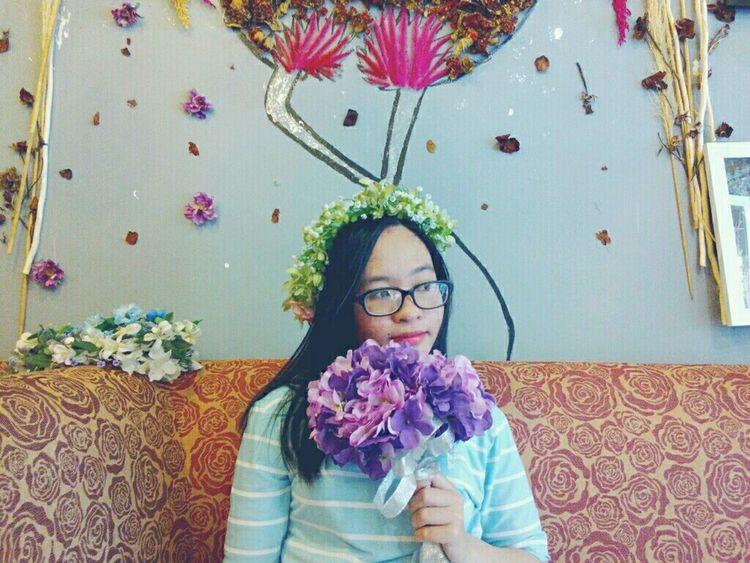 🌹Em là cô gái yêu hoa Cẩm Tú Cầu Flower Hoa Girl Gift Lovely 🍀
