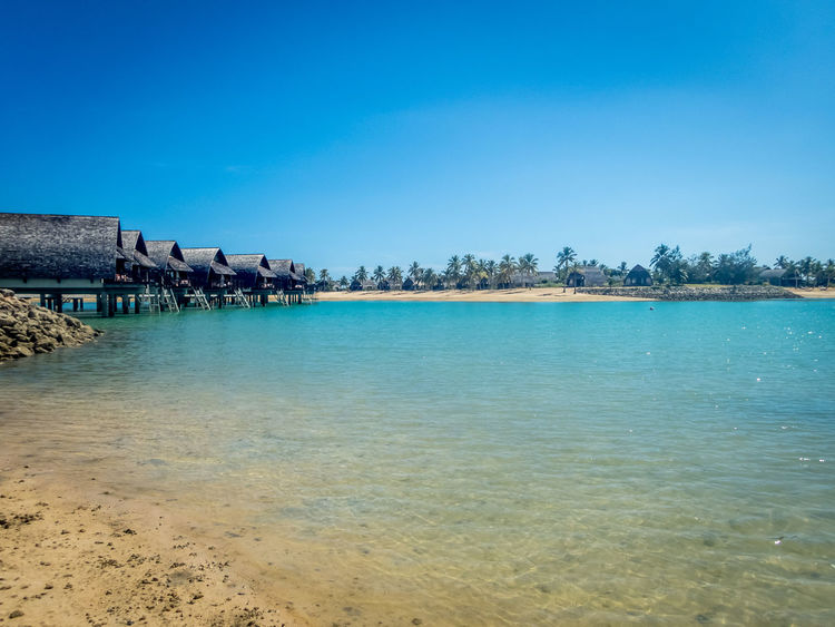 beach and bures Beach Beauty In Nature Blue Clear Sky Day Horizon Over Water Nature No People Outdoors Scenics Sea Tranquility Water