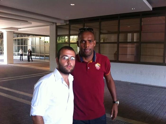 Me and maicon player in as roma football soccer