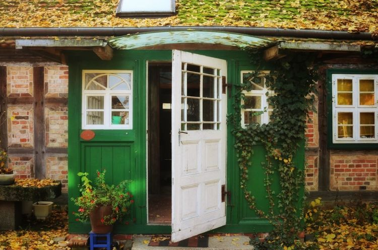Window Green Color Architecture Building Exterior House Tree Architecture Front Door Plant