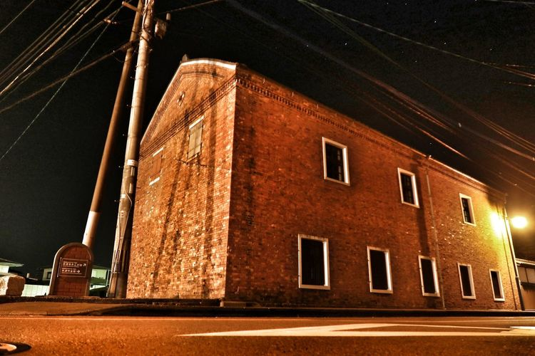Built Structure Architecture Building Exterior Illuminated Night No People Outdoors Depot Brick Brickhouse Brickdepot