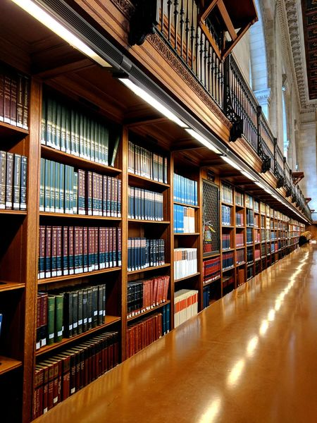 Public Library New York Library Indoors  books Bookshelf Shelf 5th Avenue 5th Ave Multi Colored New Yor New York City