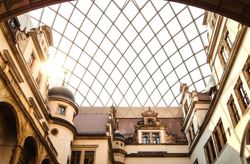 Art Gallery with sunlight 🌇 Sunlight Wanderlust Sightseeing Built Structure Architecture Low Angle View Building Exterior Sky Day No People Travel Destinations Building Ceiling Pattern Ornate Arch Nature Outdoors City Travel The Past History Architectural Column