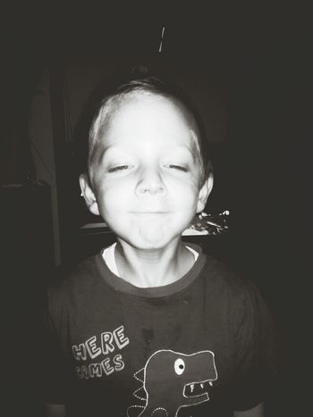 little brother being a goon♡