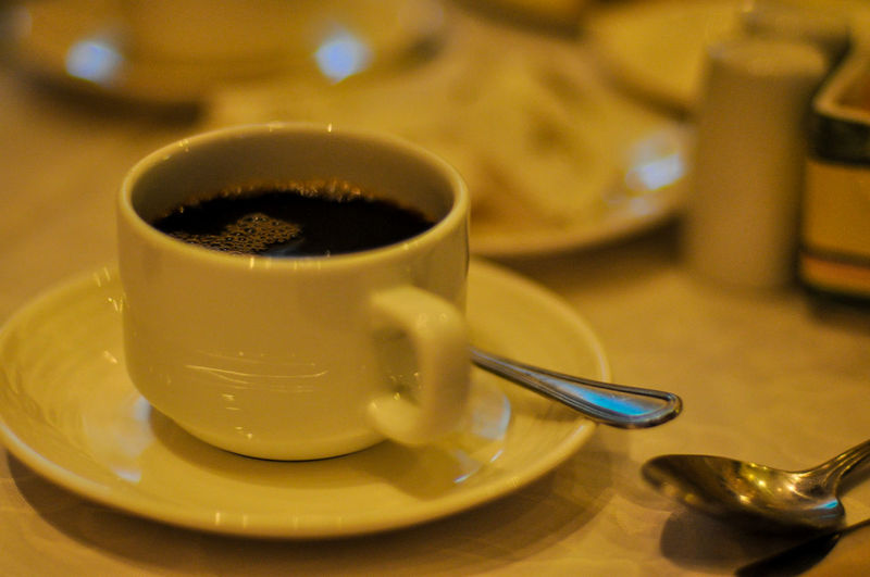 Arrangement Close-up Coffee Coffee - Drink Coffee Cup Composition Cup Directly Above Drink Food And Drink Freshness Healthy Lifestyle Indoors  Indulgence Preparation  Refreshment Saucer Spoon Still Life Table Temptation