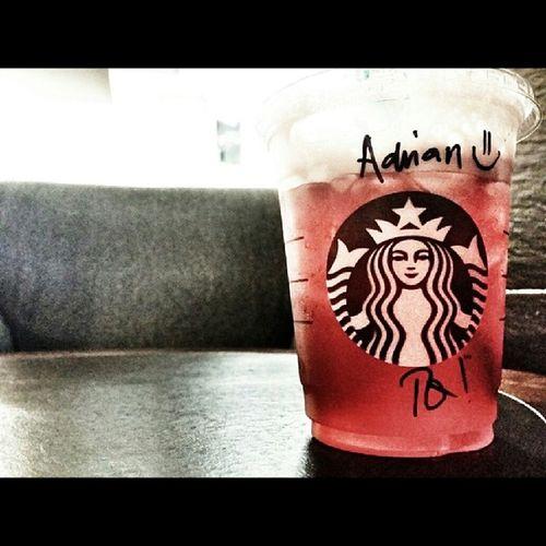 Alone with Icedshakenpassiontea at StarbucksMalaysia