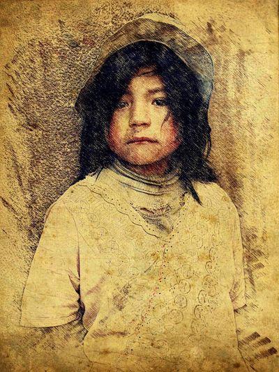 Pour Child Perú ❤ Pisac Perú Fine Art Photography Color Portrait Art, Drawing, Creativity
