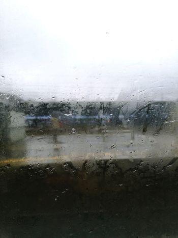 Szyba Deszcz Peron Window Pkp Drop