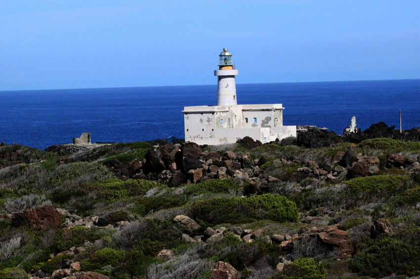 Pantelleria Architecture Building Exterior Built Structure Clear Sky Day Horizon Over Water Lighthouse No People October 2015 Outdoors Sea Seaside Water