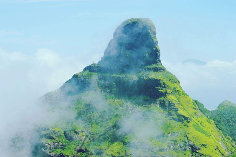 RATANGARH Fort Ratangad Pune Monsoon Mountain Fog Sky Cloud - Sky Multiple Exposure