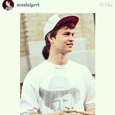 I don't wanna be a teeny bop bop but I gotta admit, I think I'm in love with this guy. Hahahaha... Oh @anselelgort , how could you? Teen Love TFioS Anselelgort movies moviestars hot celebritycrush