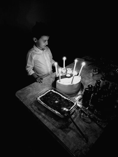 Cousin Mycousin❤ Birthday Birthday Cake Birthday Candles Food And Drink Sweet Food Celebration Indoors  Black & White Childhood Crazy Black One Person Fulledit Special Design One Man Only Cousinbirthday Special Moment Superblack The Monster Black Special Place Huawei Honor8