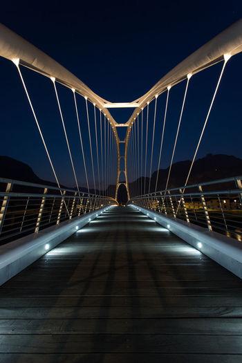 Surface level of suspension bridge