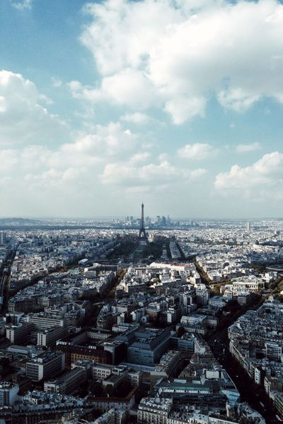 A Bird's Eye View Paris Eiffel Tower Cityscape City The Architect - 2017 EyeEm Awards Sky High Angle View Cloud Cloud - Sky Travel Destinations Residential District Aerial View Day Horizon Cloudy Horizon Over Land Eiffel_tower  מייפריס Embrace Urban Life מייסטריט Adapted To The City The City Light Your Ticket To Europe
