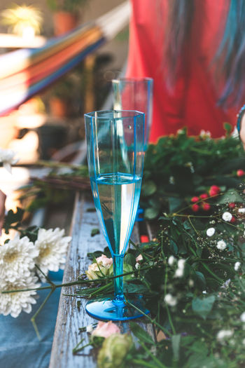 Glass Plant Freshness Nature Flower Food And Drink Drink Flowering Plant Refreshment Drinking Glass Close-up Table Glass - Material Focus On Foreground Alcohol Wineglass Wine Day Household Equipment Outdoors Flower Wreath