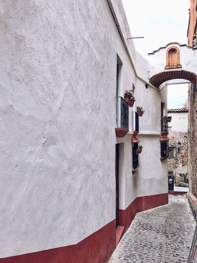 Get lost, get curious, and wander around Taxco's little and steep alleys. Old Mexican Town Old Town Village Rural Scenes Architecture Mexican Architecture Old Street Stone Road White Houses Mexico Travel Destination Streetphotography Travel Destinations