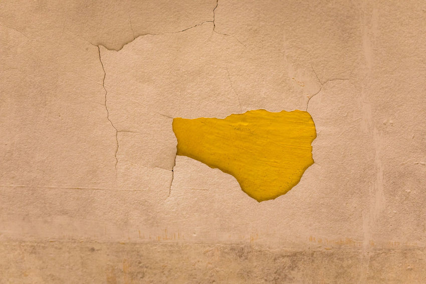 Abandoned Places Wall Abandoned Backgrounds Blank Close-up Color Copy Space Crack Cracked Damaged Dirty Fracture Full Frame Hole No People Old Pattern Run-down Textured  Textured Effect Torn Wall - Building Feature Weathered Yellow