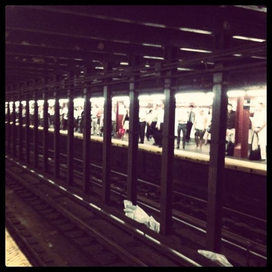 Waiting on the E train #pennstation #nyc Pennstation NYC
