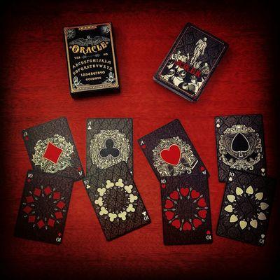 Oracle Playingcards Ten Joker Art Heart Spades Diamond Club Red