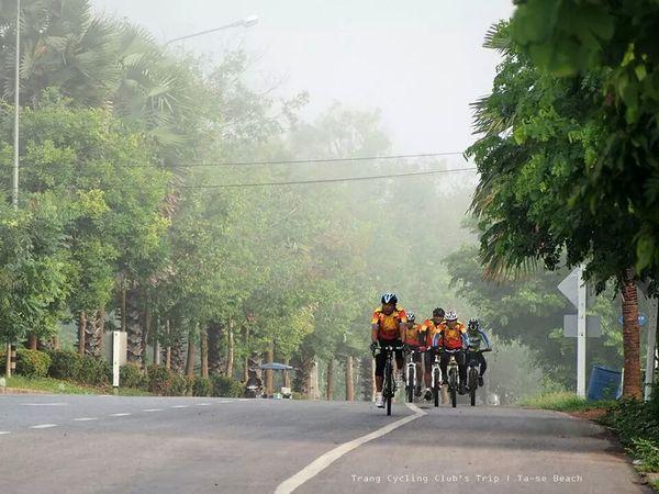 trang Cycling club's trip. Bicycle Trip On The Road Week End
