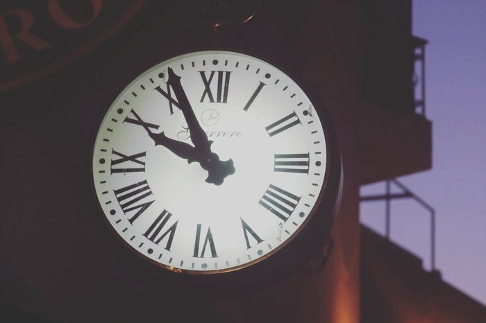 Clock Face Minute Hand Clock Roman Numeral Time Hour Hand City Close-up Architecture Built Structure