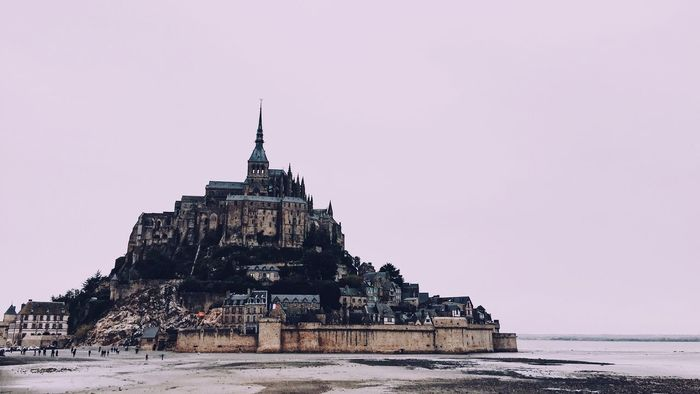 Abbey France Normandie Normandy Saint Michel Architecture Travel Destinations Water Sky Outdoors Sea Place Of Worship Colour Your Horizn Go Higher The Architect - 2018 EyeEm Awards