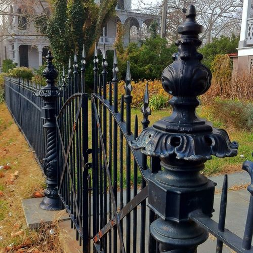 Wrought iron fence in Cape May , NJ