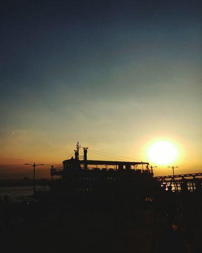 Sun setting in