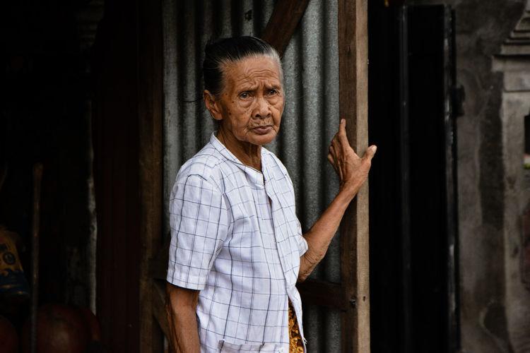 Bali Balinese Old Woman People Portrait Senior Adult Woman