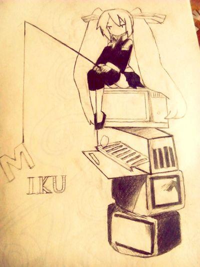 Drawing ✏ Cartoon Pic Miku :3 MyLove ♡ Art Yourself