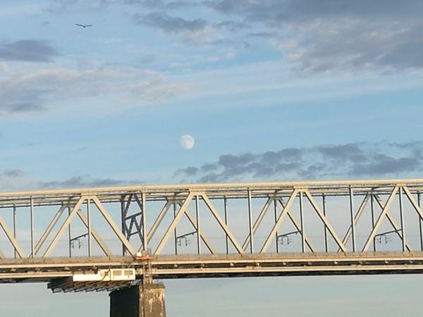 Bridge - Man Made Structure Moon Moon Rising Steel Outdoors Sky Transportation