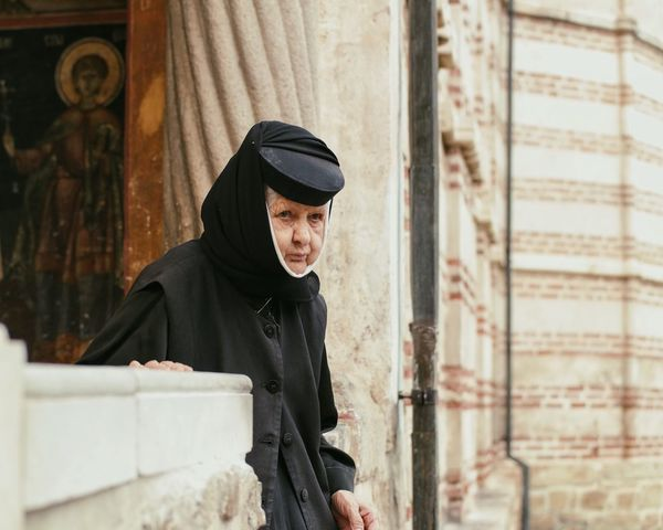 Godliness... Focus On Foreground Looking At Camera Monk  Priest Priestess Monastery Church Old Woman Portrait Of A Woman Portraits Of EyeEm Found On The Roll My Favorite Photo Vscocam Tranquil Scene Professional Occupation Made In Romania Focus Of Foreground Selective Focus Aged Black Old-fashioned Piety TakeoverContrast Snap a Stranger What Who Where Women Around The World Welcome To Black The Portraitist - 2017 EyeEm Awards This Is Aging
