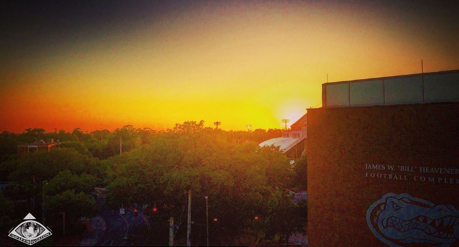 Sunsets over the O'Dome Check This Out Taking Photos Enjoying Life Gainesville University Campus The Swamp UofF