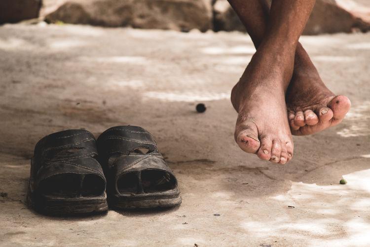 Sandal Feet Legs Crossed Toenail Foot Sole Of Foot Human Human Feet Toe Muddy Human Toe Mud Dust Flip-flop The Photojournalist - 2018 EyeEm Awards