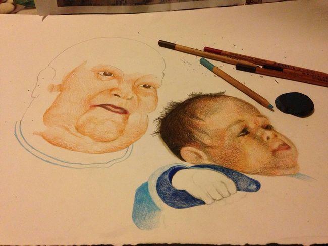 Me Art Drawing Portrait Matite Pancils Colors Artist