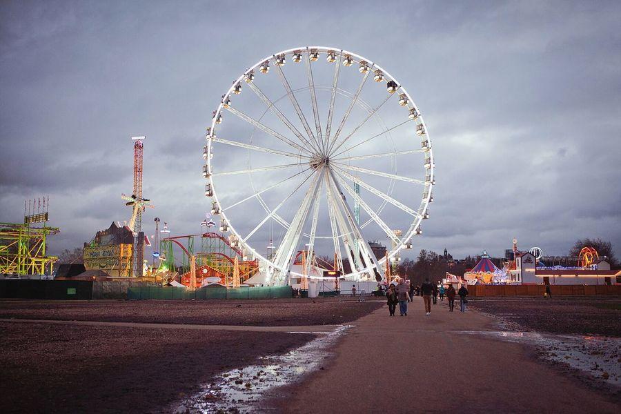 England London Hyde Park London Eye Park Ferris Wheel Sky Outdoors Leisure Activity Weekend Activities Weekend Getaway Twilight Hydepark