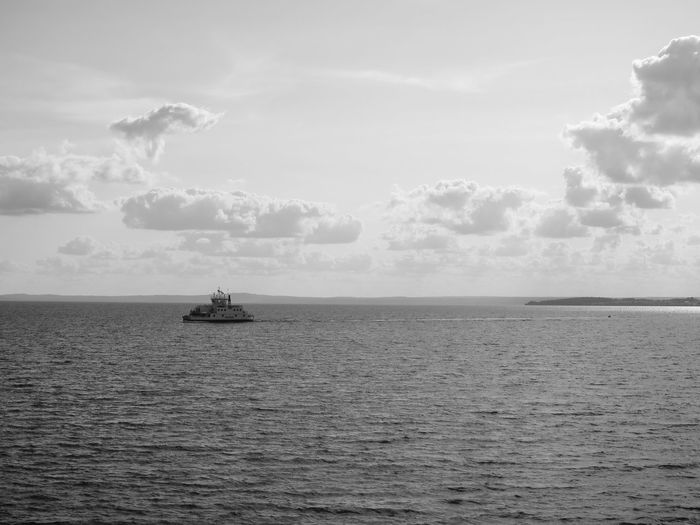 Going Home Maritime Ferry Black And White