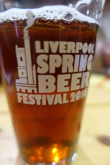 Alcohol Beer Cains Brewery Drink Glass Liverpool Liverpool Spring Beer Festic No People Real Ale Selective Focus