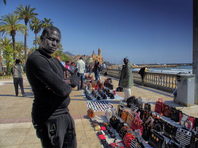Casual Clothing Catalunya City City Life Clear Sky Day Large Group Of People Leisure Activity Lifestyles Men Outdoors Person Sitges Sitges Barcelona España Street