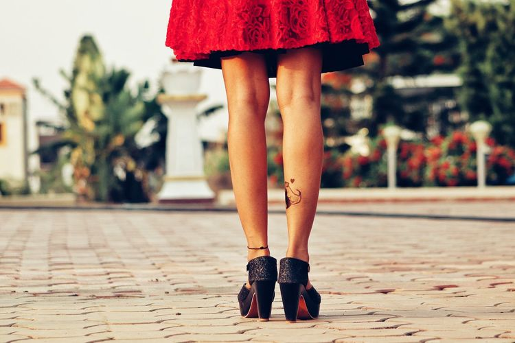 BE YOU!! Tattoo Fashion Model This Is Family Low Section Women Red Human Leg Close-up First Eyeem Photo EyeEmNewHere Visual Creativity International Women's Day 2019