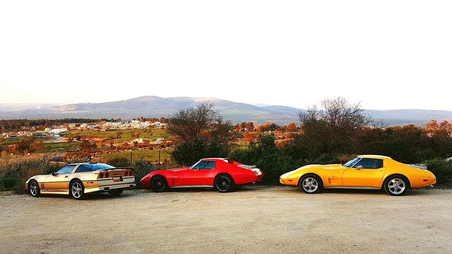 Car Corvette Driving Outdoors Collector