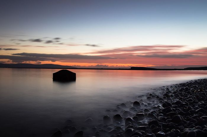 Standing still Moody Sky Ireland Evening Dusk Shades Of Winter Long Exposure Sunset Tranquility Beauty In Nature Scenics Tranquil Scene Nature Water Sea